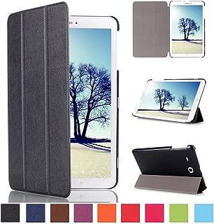 Samsung Tab E 8 inch Tablet Case,Samsung Galaxy 8.0 Tablet Case,Galaxy 8 inch Tablet Case,Samsung 8 inch Tablet Case,Flip Cover Folding Case Cover for Samsung Tab E 8.0-Black