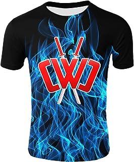 Kids Chad Wild Clay CMC Gamer Flame 3D Print Shirt Video Game Wild Clay-H-L