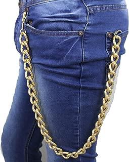 Wallet /& Jean Chain Black Cap Skull Double Chain  Biker Trucker Hip Hop  New