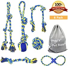 Jmxu's 6Pcs Dog Rope Toys for Aggressive Chewer, Tough Chewing Toys for Medium and Large Breed, Perfect for Tug of War Playing and Teeth Cleaning