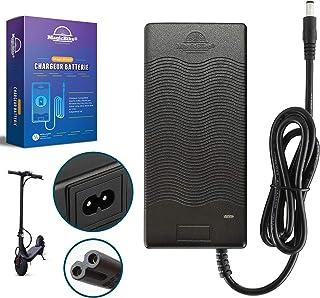 YARNOW Chargeur de Batterie 42V 2A Connecteur Adaptateur Dalimentation 100-240V Compatible pour Scooter /Électrique Xiaomi M365 Noir