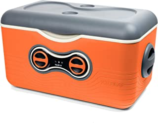 Cooler with Bluetooth Speaker. Fun for Camping & Beach Fun & Romantic Days. Play Your Music on The KaleiGO Cooler (Orange)
