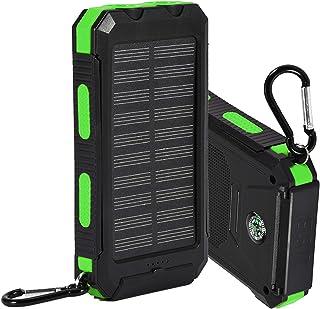 iFCOW 10 000 mAh solcellsdriven powerbank för mobiltelefoner surfplattor utomhus snabbladdningsfodral gör-det-själv-kit me...