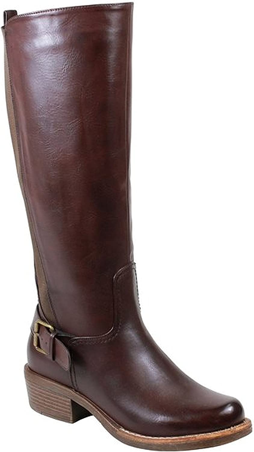 Reneeze MONA-02 Womens Sexy Knee-high, Boots with Strap - Brown