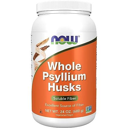 NOW Psyllium Husks Whole, 24-Ounce