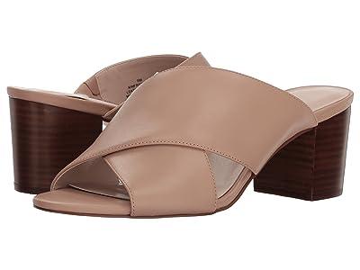 Nine West Freddius Slide Block Heeled Sandal (Light Natural Leather) Women