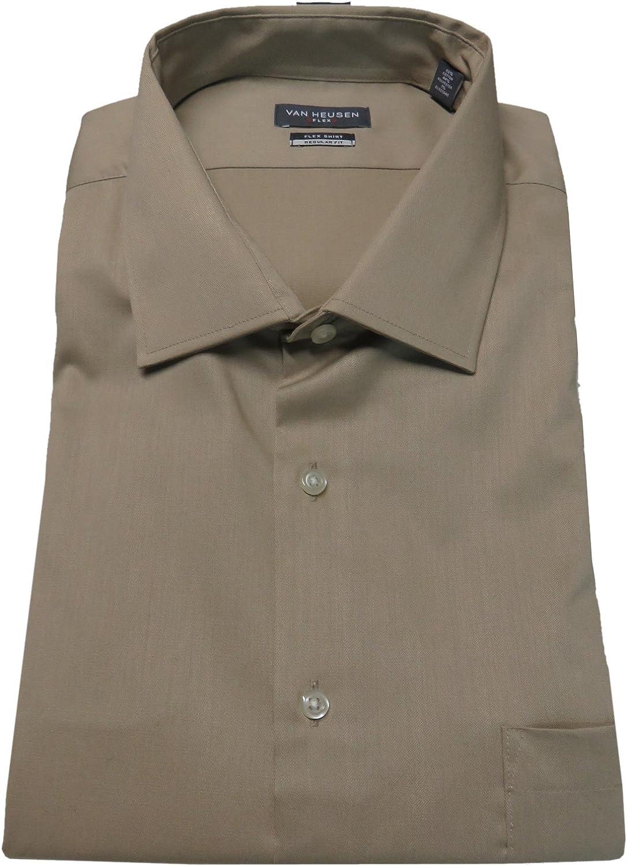 Van Heusen Men's Flex Collar Regular-Fit Dress Shirt Solid