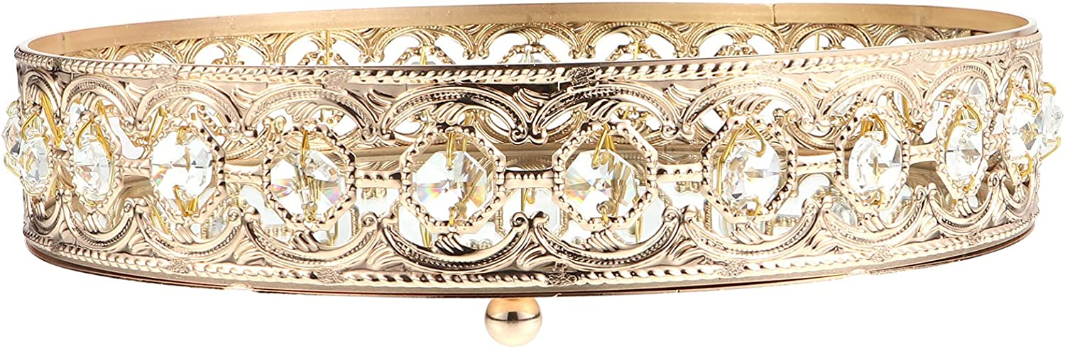 Soldering PATKAW Crystal Albuquerque Mall Cosmetic Tray Ornate Jewelry Trinket Vintage Mirr