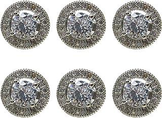 KESYOO 6 Pcs Botões de Strass Botões de Strass Moda de Cristal Botões de Roupas de Zircônia Botão de Roupas Vintage Botões...