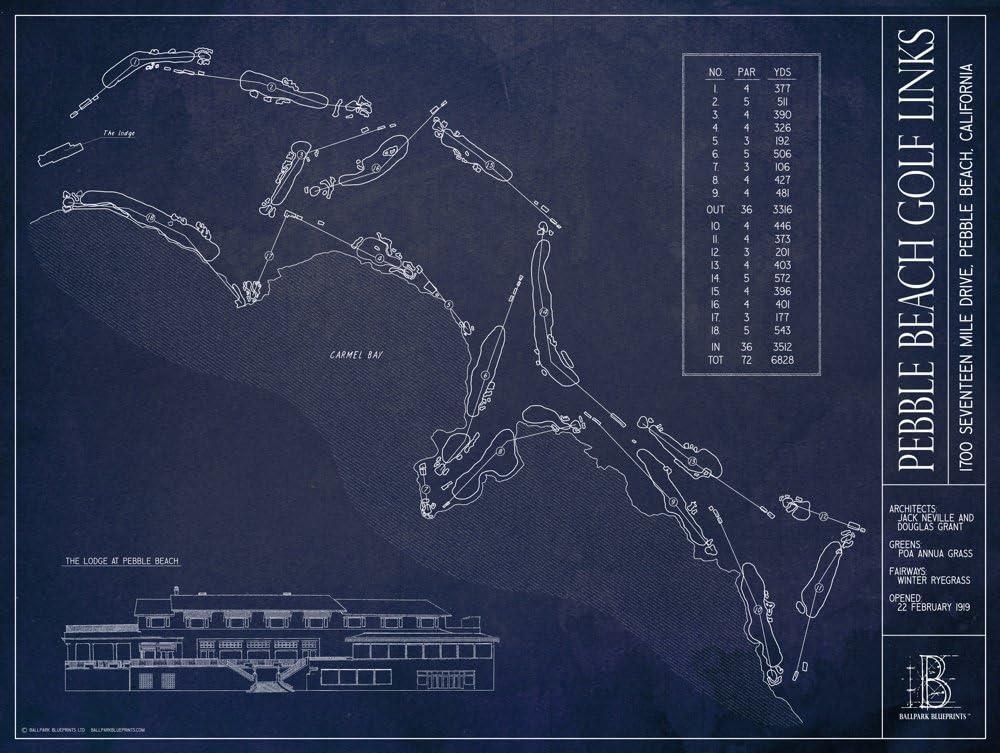 Pebble Beach Golf Links Blueprint x 18