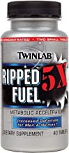 Twinlab Ripped Fuel 5X | Metabolic Accelerator | Increased Definition for Men and Women, 40 Tablets