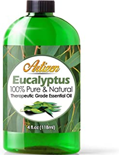 Artizen Eucalyptus Essential Oil (100% Pure & Natural - UNDILUTED) Therapeutic Grade - Huge 4oz Bottle - Perfect for Aroma...