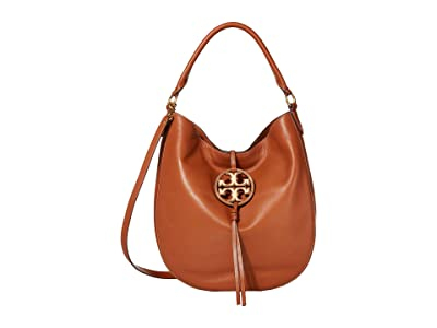 Tory Burch Miller Metal Slouchy Hobo (Aged Camello) Handbags