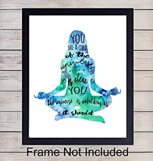 Zen Meditation Unframed Watercolor Wall Art Print - Perfect Gift for Yoga or Zen Enthusiasts - Chic Home or Studio Decor - Ready to Frame (8x10) Photo