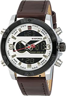 NAVIFORCE Men's Dial Leather Band Watch - NF9097M-3
