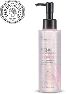 [THEFACESHOP] Facial Cleanser, Natural Rice Water Light Cleansing Oil Moisturizer for Dry or Oily Skin - 150 mL /5 Oz
