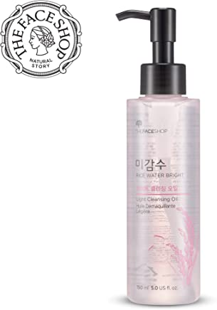 The Face Shop Facial Cleanser, Natural Rice Water Light Cleansing Oil Moisturizer for Dry or Oily Skin - 150 mL /5 Oz
