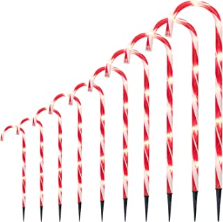 10 Pack Christmas Candy Cane Lights, 27