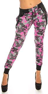 Crazy Age Camouflage spodnie do joggingu spodnie Boyfriendhose z szelkami CA 1119 Cam