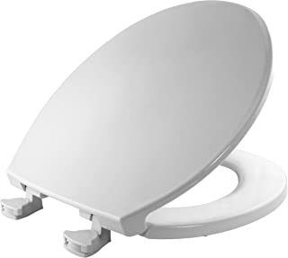BEMIS 800EC 000 Toilet Seat with Easy Clean & Change Hinges, Round, White