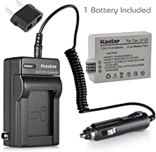Kastar LP-E5 Battery and Charger Replacement for Canon EOS Rebel XS, Rebel XSi, Rebel T1i, EOS 1000D, EOS 450D, EOS 500D, Kiss F, Kiss X2, Kiss X3 Camera
