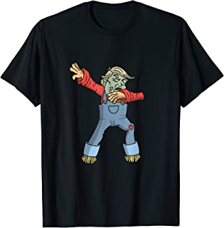 Trump Halloween Zombie Funny Scarecrow Dabbing Dab Dance T-Shirt