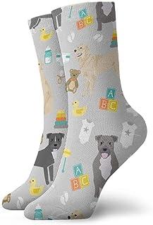 Calcetines de algodón para hombre, diseño de perros