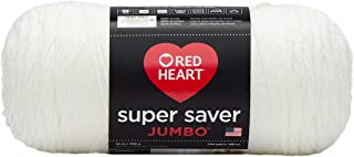 RED HEART Super Saver Jumbo Yarn, Soft White