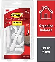 Command White Hooks, White, 14 hooks, 16 strips, Indoor Use (17003-MPES)