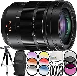 Panasonic Leica DG Vario-Elmarit 12-60mm f/2.8-4 ASPH. Power O.I.S. Lens 9PC Accessory Bundle – Includes 3 Piece Filter Kit (UV + CPL + FLD) + More (White Box) - International Version (No Warranty)