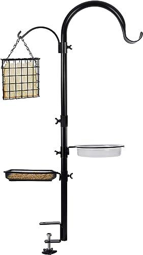 lowest yosager Deck Hook Bird Feeder wholesale Pole Bird Bath Feeding Station Kit, Feeder Porch Multi Hook Bird online sale Feeder Railing Hanging Kit, Premium Birdbath for Attracting Wild Birds Bird Feeder Planter Hanger online sale