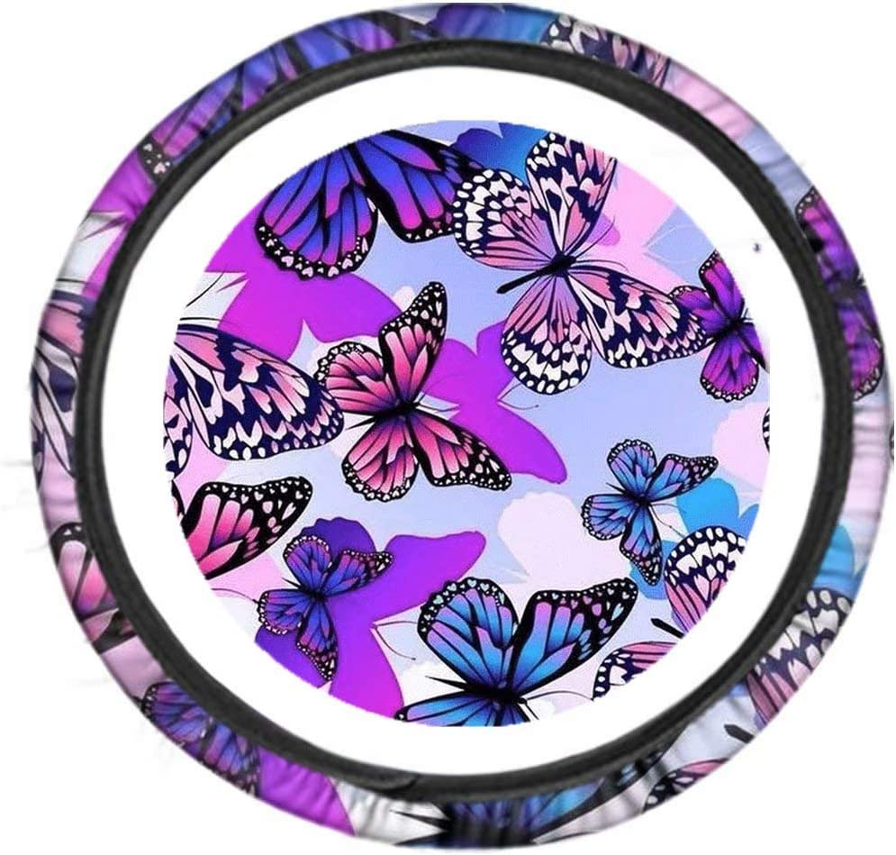 Pensura Butteerfly Steering 55% OFF San Antonio Mall Wheel Cover Trendy and Women for Fas