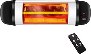 Kismile Outdoor Electric Patio Heater,Indoor Infrared Heater,Wall-Mounted Waterproof Space Heater with Fast Heating for La...