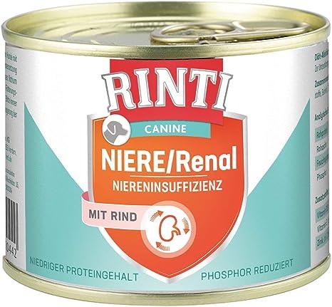RINTI Canine Riñón/renal Vacuno, 12 Unidades (12 x 185 g)