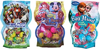 Disney Candy Filled Easter Egg Hunt Assortment Featuring Frozen, Avengers and Other Disney Characters - 48 Eggs