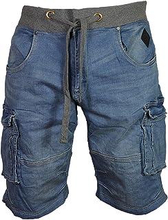 KAM Mens Big King Size Cargo Denim Shorts Fashion Smart Casual Summer Half Pants