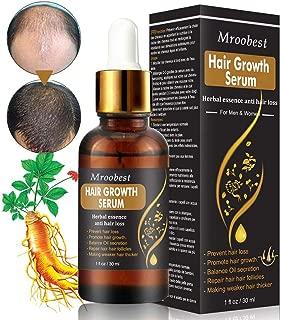 Hair Growth Serum, Hair Treatment Serum Oil, Hair Serum, Hair Growth Treatment, Stops Hair Loss, Thinning, Balding, Promotes Thicker, Fuller and Faster Growing Hair (30ML)