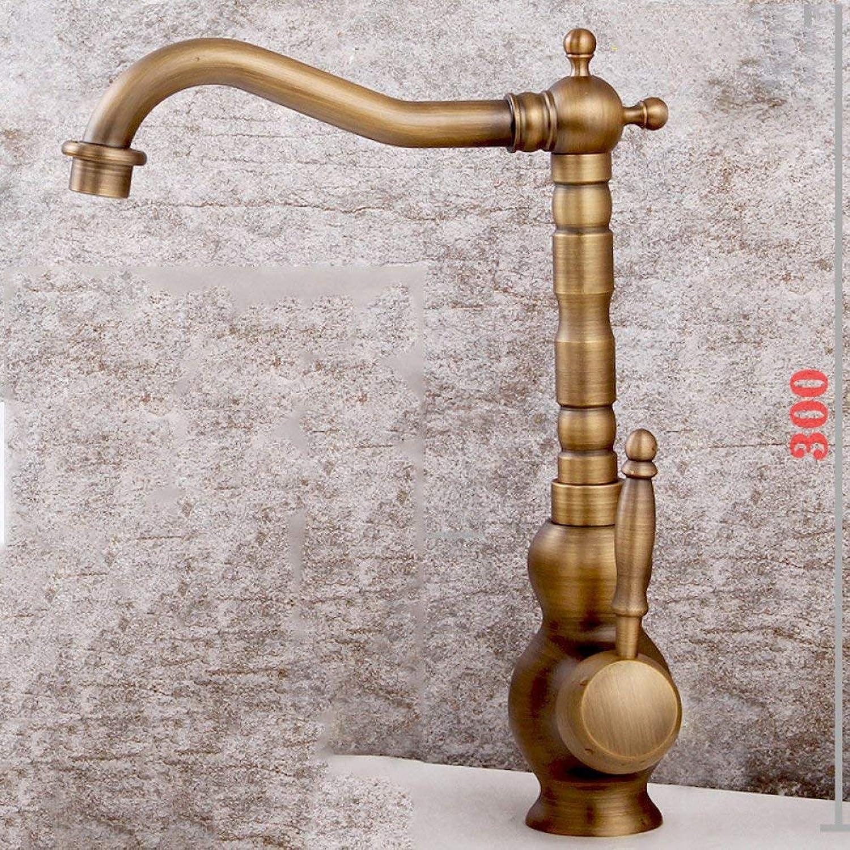GONGFF Waschtischarmaturen Wasserhahn Becken Wasserhahn Single-Unit Kupfer Wasserhahn sitzen Becken Wasserhahn