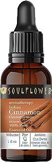 Cinnamon Essential Oil by Soulflower, Pure & Natural Undiluted, Organic, Safe & Vegan, Aromatherapy, 1 FL.OZ BONUS Glass D...