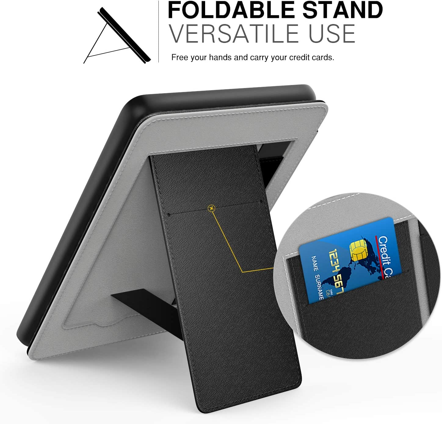 Denim Indigo 10th Generation - 2019 Release Will Not Fit Kindle Paperwhite 10th Generation 2018 Slim PU Leather Stand Smart Cover Shell with Hand Strap MoKo Case Fits All-New Kindle