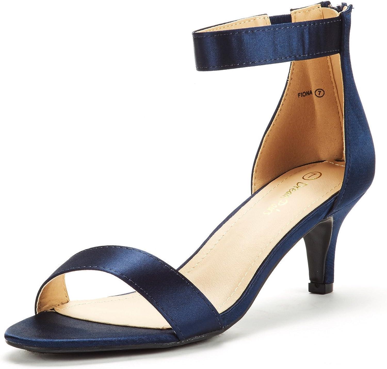 DREAM PAIRS OFFicial mail order Women's Fiona Fashion Pump Popular overseas Heeled Open Toe Stilettos