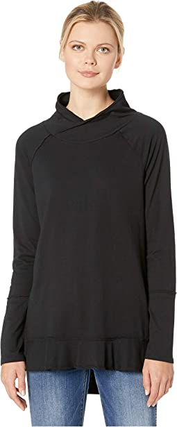 Deluxe Jersey Crossover Funnel Neck Seamed Tee