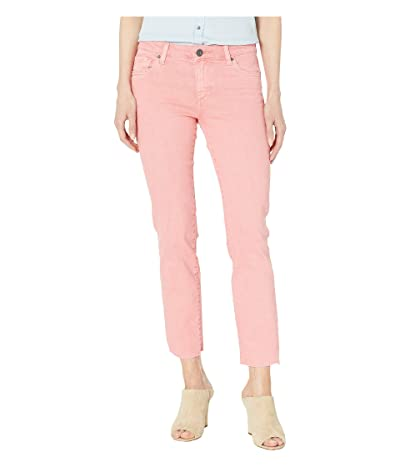 KUT from the Kloth Reese Ankle Straight Leg Jeans w/ Raw Hem in Coral (Coral) Women