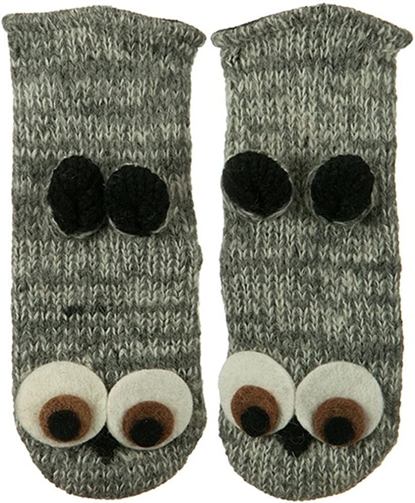 Adult Animal Wool Mitten