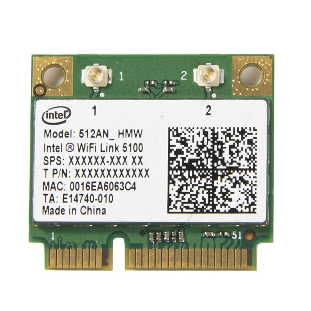 ドアミラー文言ビジョンインテルWiFi 5100半分サイズminipci-e 512?AN HMW 300?Mカード