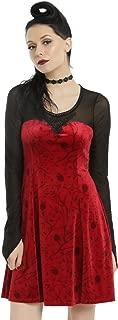 Once Upon a Time Regina Red Velvet Apple & Vine Design Dress