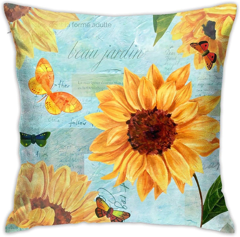 Sunflower Popularity Pillow Fashionable Zipper Square Novel Deco Pillowcase Bombing free shipping