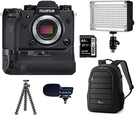 $1109 » Fujifilm X-H1 24.3MP Mirrorless Digital Camera Body with Vertical Power Booster Grip Kit, Bundle with Marantz Microphone, Lowepro Backpack, Joby GorillaPod 3K Kit, Aputure LED Light, 64GB SD Card