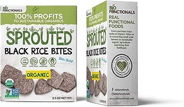 Organic Rice Crackers. Gluten Free. 3 Simple Ingredients. Baked. Sea Salted. Biofunctionals Organic Black Rice Snacks. Vegan. 100% Non-profit. 2-Pack.