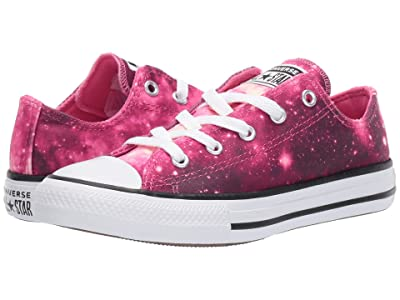 Converse Kids Chuck Taylor(r) All-Star(r) Miss Galaxy Print Ox (Little Kid/Big Kid) (Dark Burgundy/Mod Pink/White) Girls Shoes